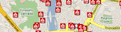 Prague Map - find hotels